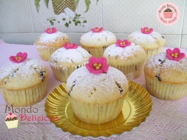 Muffins Panna e Gocce di Cioccolato