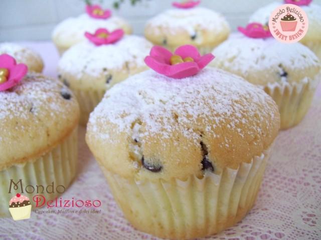 Muffins Panna e Gocce Cioccolato (15)