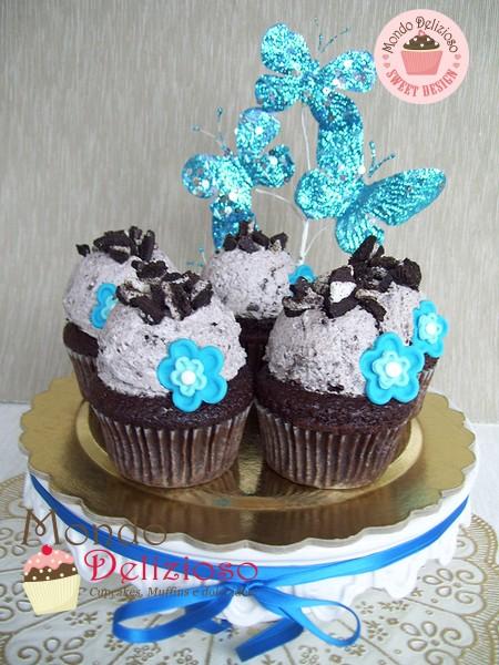 Oreo Cupcakes con Frosting al Biscotto
