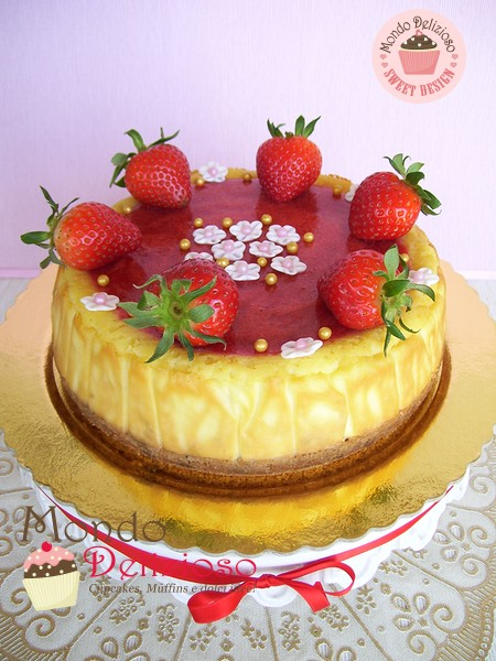 Cheesecake Italiana con Fragole