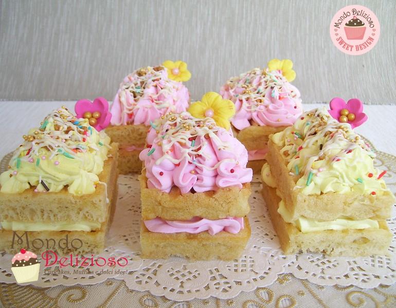 Mini waffle cakes esperimento decorativo mondo delizioso for Decorazione waffel