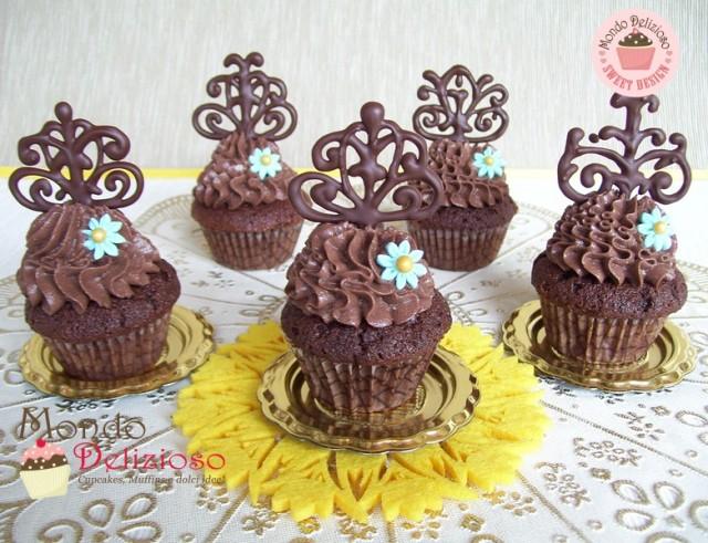Mini Victoria Sponge Cupcakes al Cioccolato