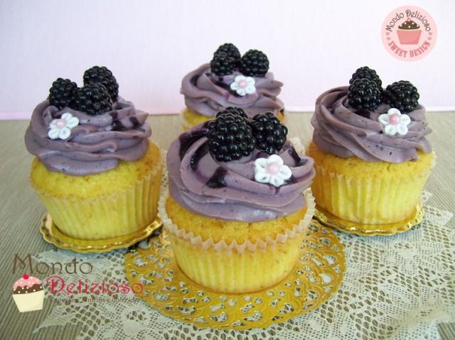 Cupcakes alla Mora selvatica