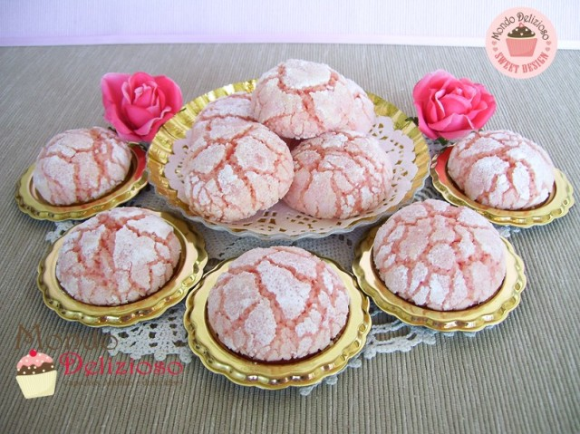 Pink Lemon Crinkle Cookies