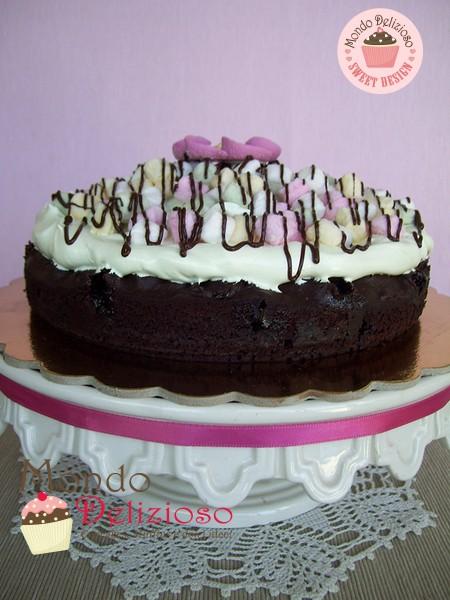 Marshmallow Brownie Cake